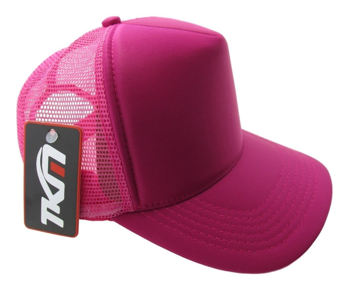 011ad35e21 boné trucker de redinha snapback rosa liso telinha. Carregando zoom.