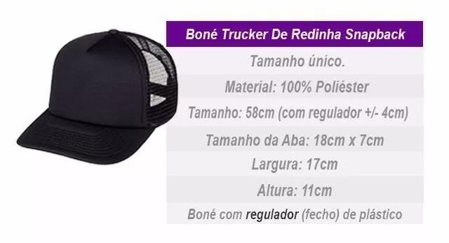 4edd17cfbe49f Bone Trucker Fé Aba Torta Snapback De Redinha - R  46