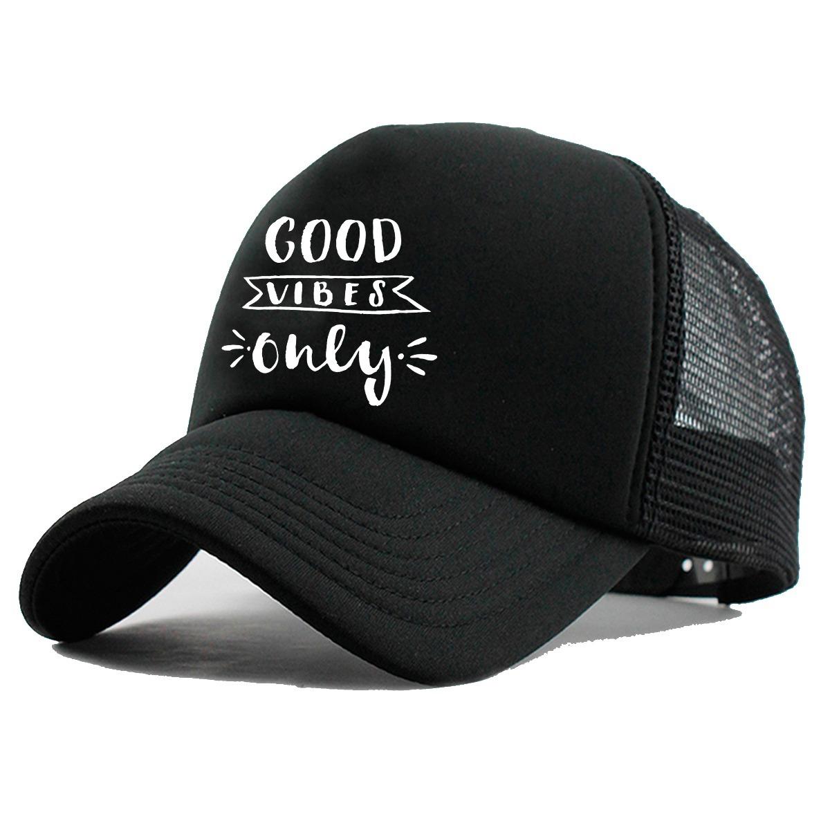 Boné Trucker Good Vibe Tumblr Moda Frases R 3299 Em Mercado Livre