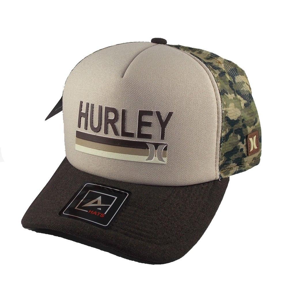 Boné Trucker Hurley Aba Curva Telinha Camuflado Snapback - R  299 c4bdd79b6de