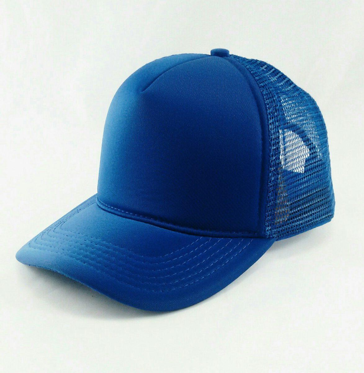 boné trucker liso de telinha azul royal. Carregando zoom. 343208c837f4b