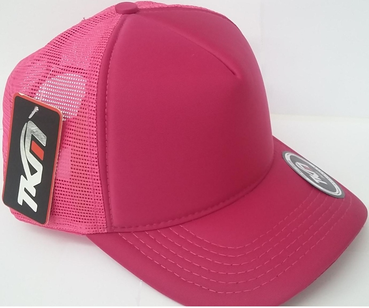 ea3c1507cb boné trucker liso tela redinha tkm preto rosa cinza neymar. Carregando zoom.