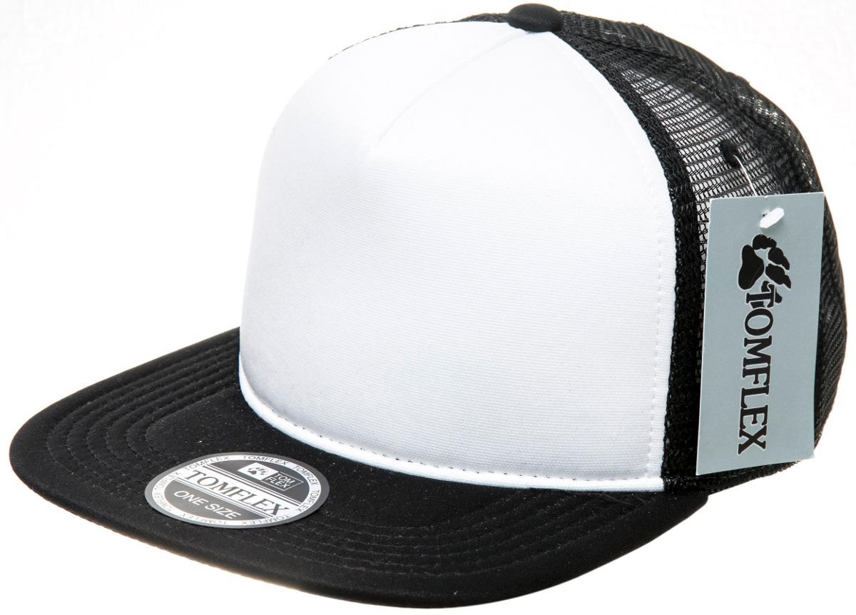 boné trucker redinha aba reta frente liso branca tela preta. Carregando zoom . 5d53f713019