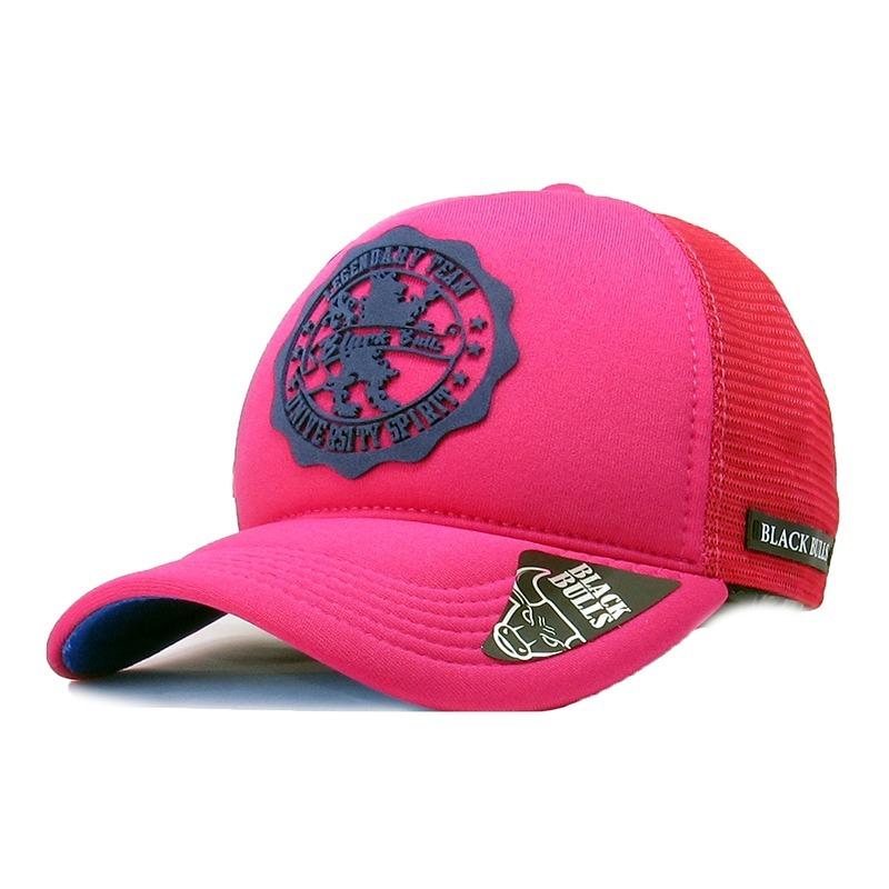 24a5b0c700478 boné trucker rosa aba curva black bulls aberto snapback c-79. Carregando  zoom.