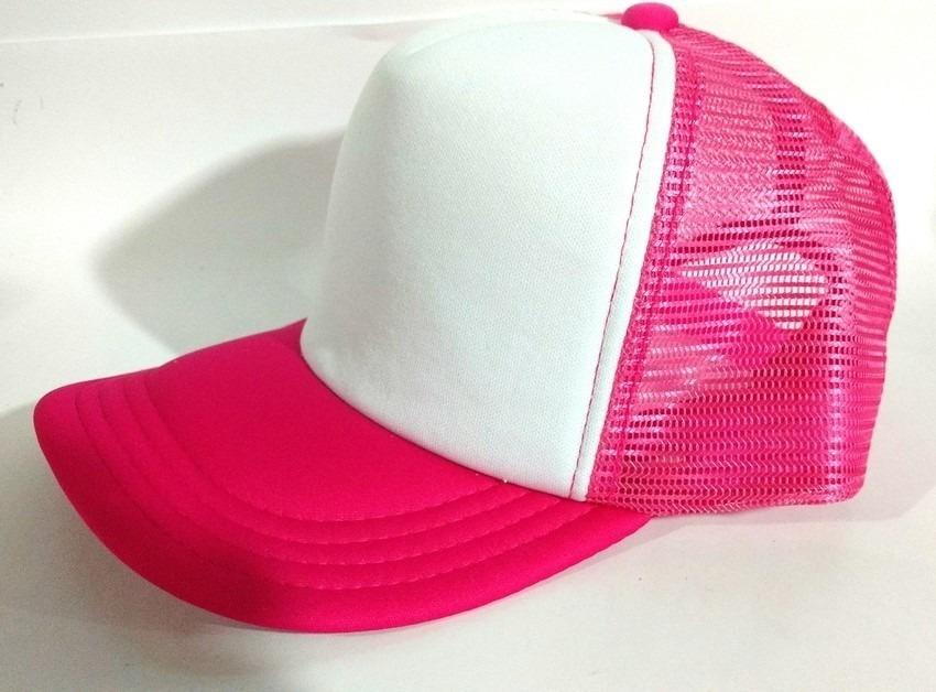 boné trucker rosa e branco aba curva aberto liso. Carregando zoom. 7eb8af9d75e