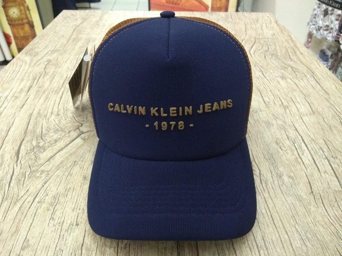 Boné Trucker Tela Telinha Aba Curva Calvin Klein Jeans - R  34,70 em ... 30a2689d26