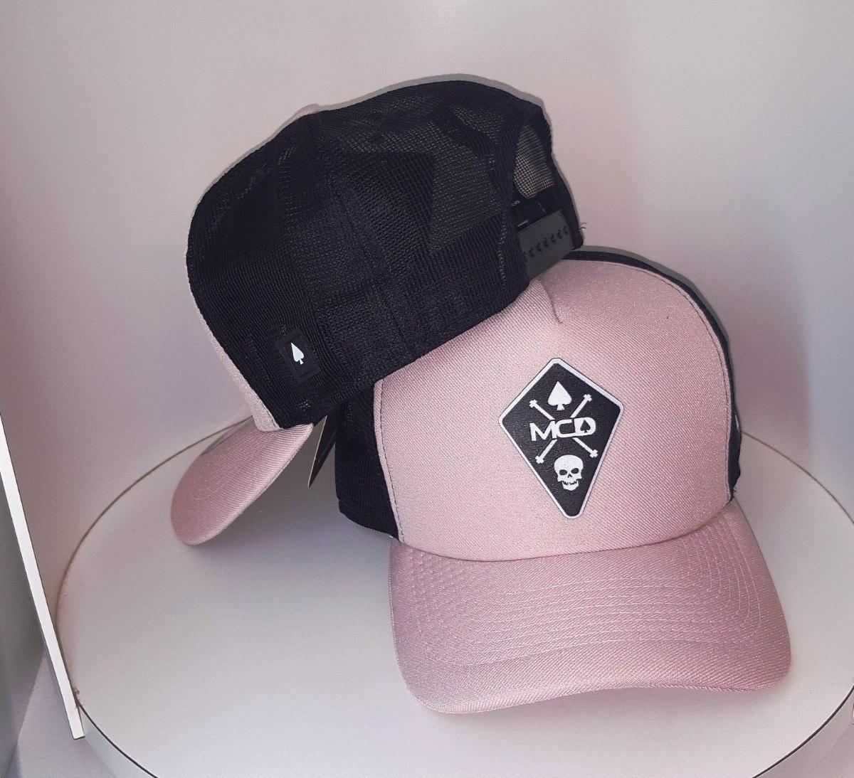 boné trucker telinha tela preto rosa baralho caveira usa m. Carregando zoom. 950e521f158