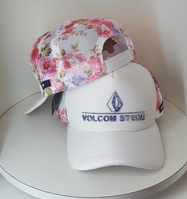 e3563a2d2a379 boné trucker volcom branco floral telinha tela adidas mcd v2. Carregando  zoom.
