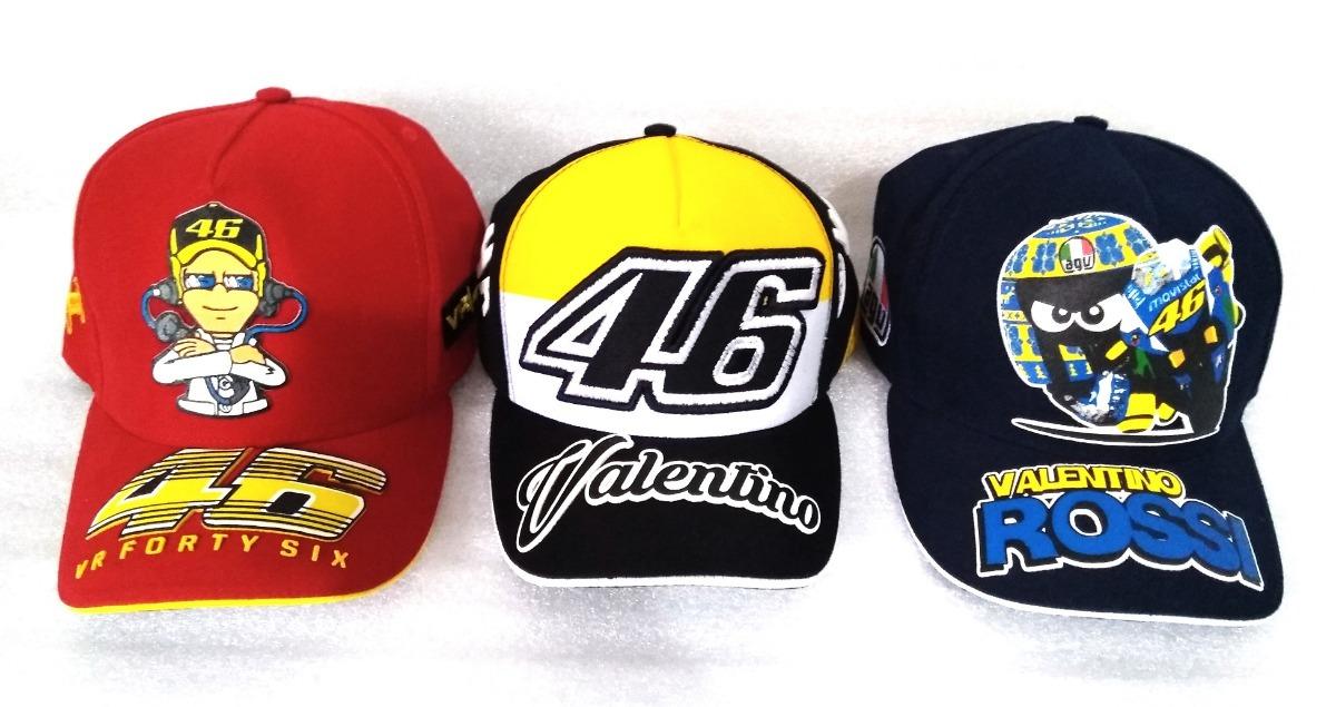 Boné Valentino Rossi 46 Moto Gp Kit Com 3 Atacado Yamaha - R  129 e0c04ad654a