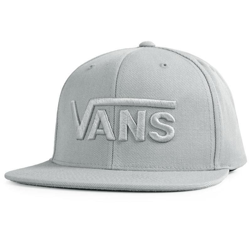 ccb486a156208 Boné Vans Drop V Aba Reta Snapback Cinza - R  149
