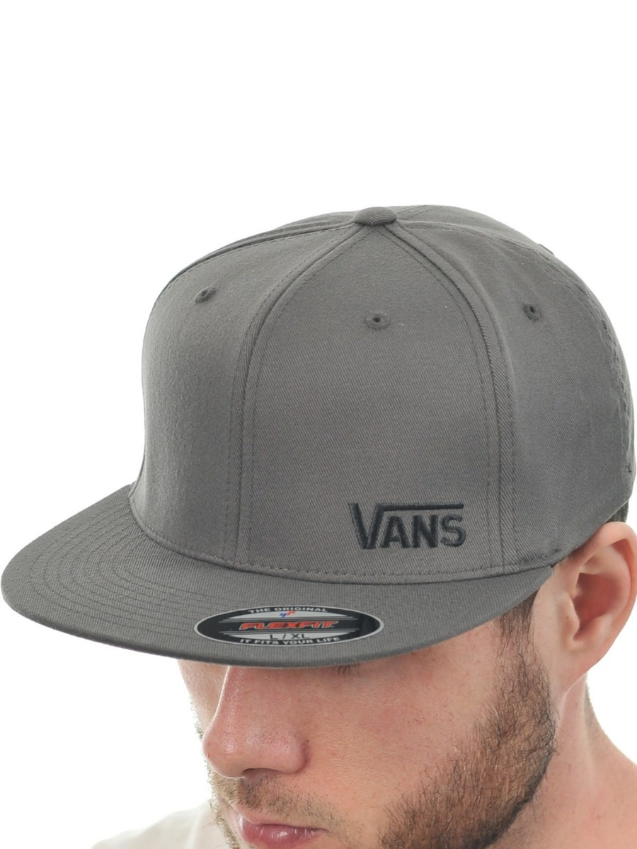Boné Vans Splitz Flexfit Aba Reta Cinza - R  85 3310945fd91