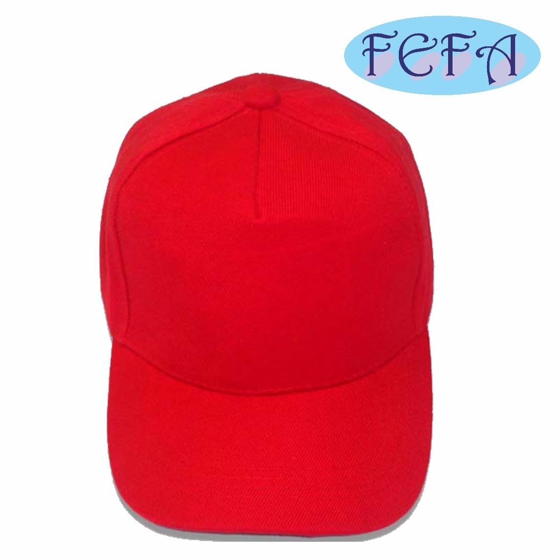 Boné Vermelho Liso Brim Aba Curva 5 Gomos Sem Estampa - R  22 4110748a9c2