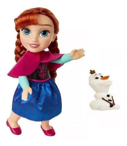 boneca anna 30cm passeio com olaf - disney frozen 2 mimo