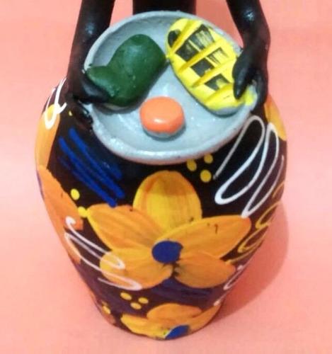 boneca artesanal folclórica africana decoração copa cozinha