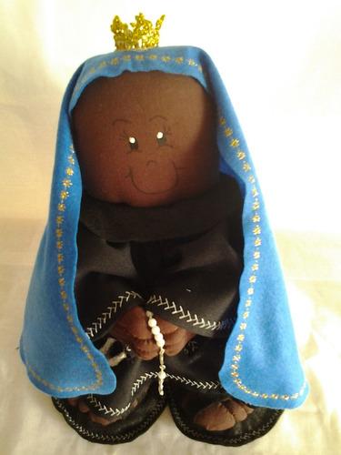 boneca artesanal  pano  nossa senhora aparecida peso porta