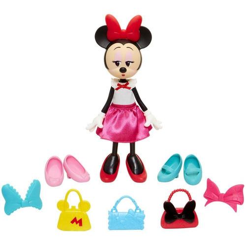 boneca artic com acessórios  minnie mouse fashion minimi
