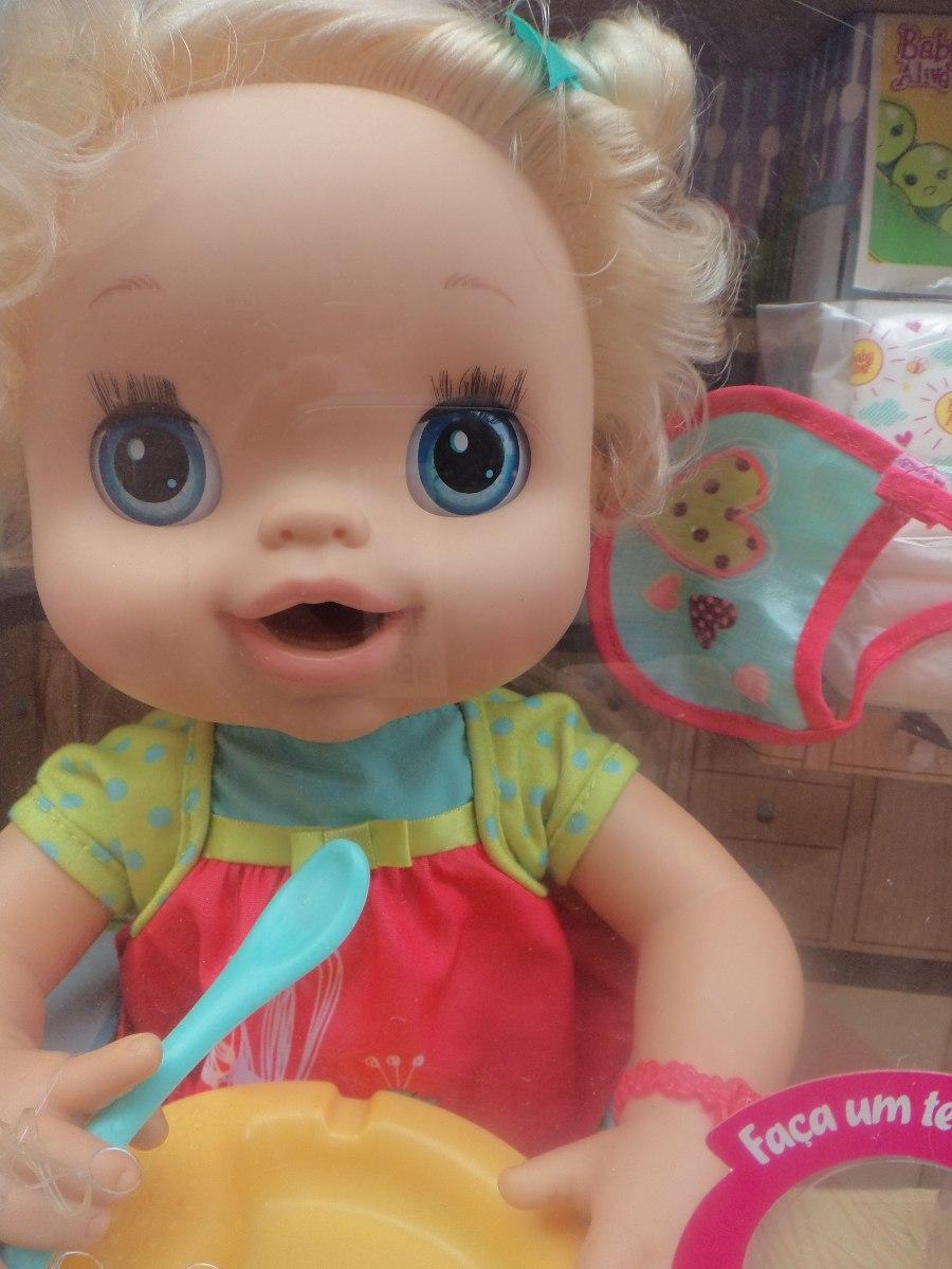 87453aa56d Boneca Baby Alive Meu Lindo Bebê Loira(fala Português) Habro - R ...