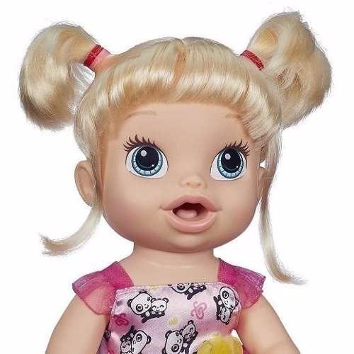 3db7fbd4df Boneca Baby Alive Hora De Comer Loira Original Hasbro - R  359