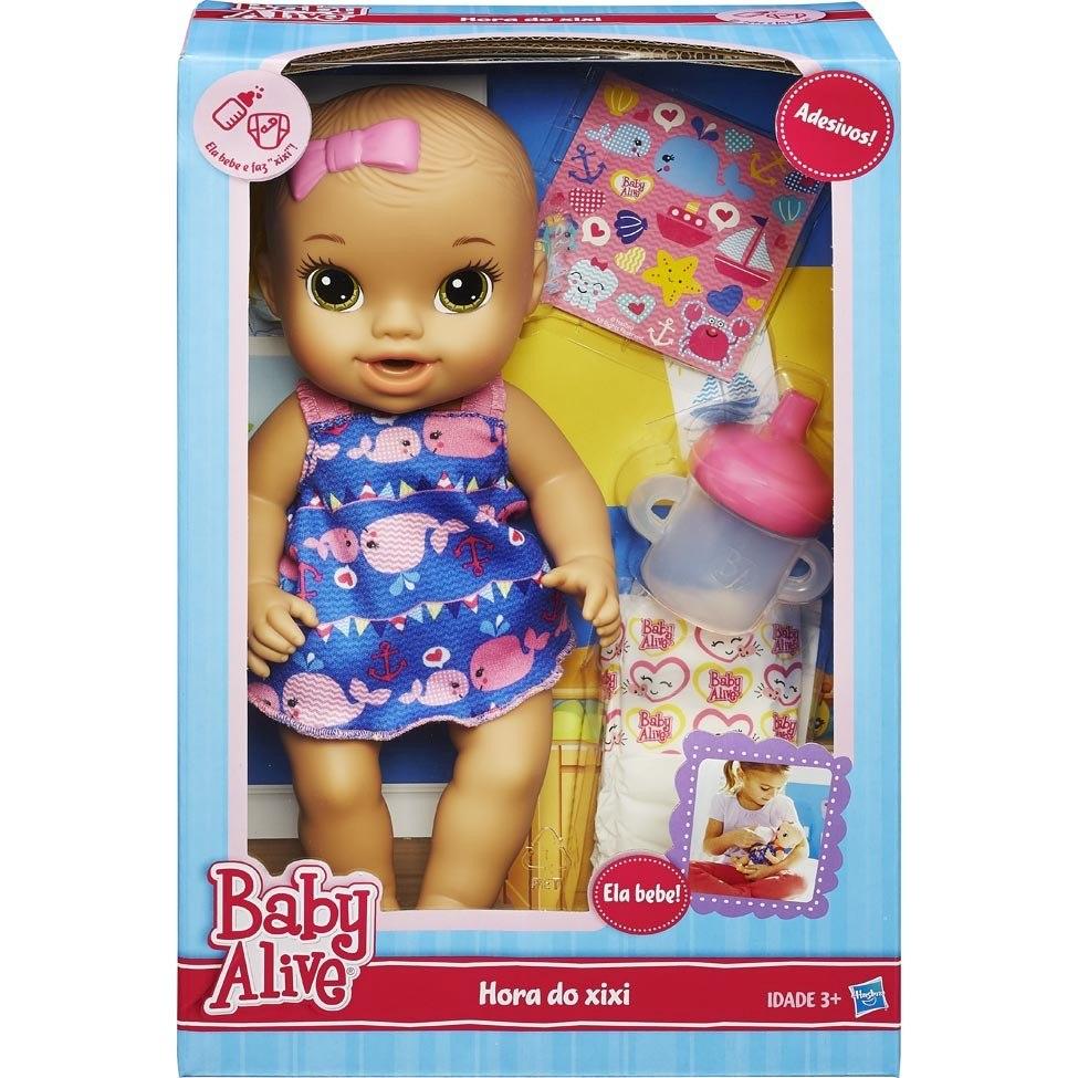 e952c936bf Boneca Baby Alive Hora Do Xixi Morena Original Da Hasbro - R  179