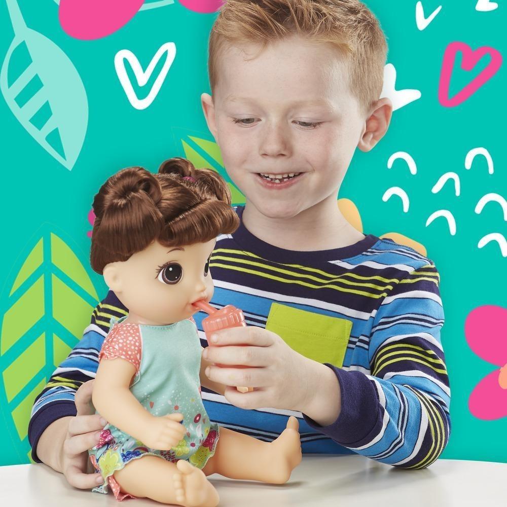 f1129c3009 Boneca Baby Alive Primeiro Penico Morena E0610 Hasbro - R  487
