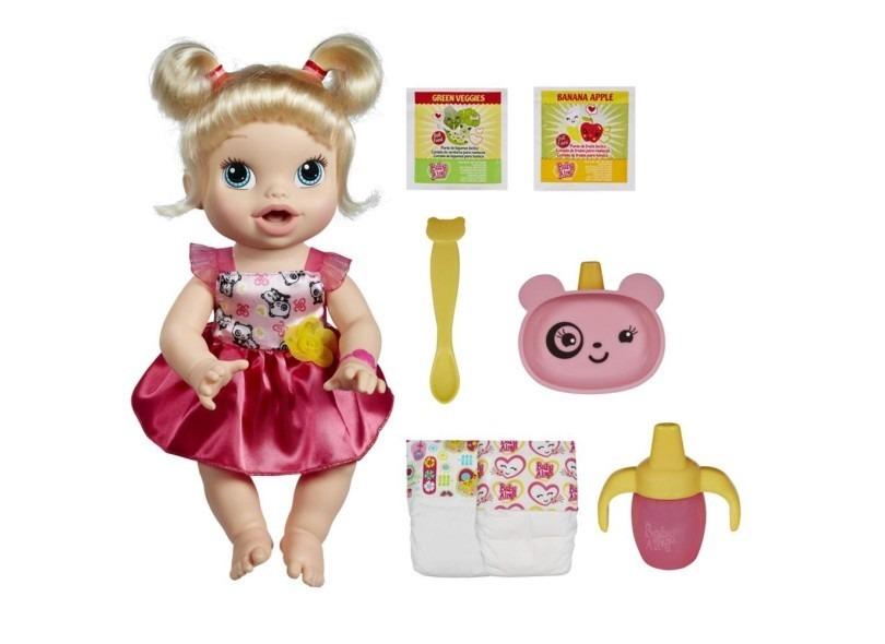 2fa9320e8b Boneca Baby Alive Hora De Comer Loira Hasbro - R  399
