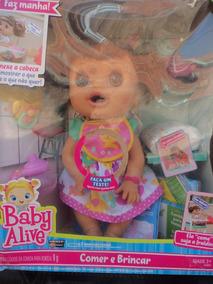 dc9ed83668 Botinha Baby Alive Comer E Brincar no Mercado Livre Brasil