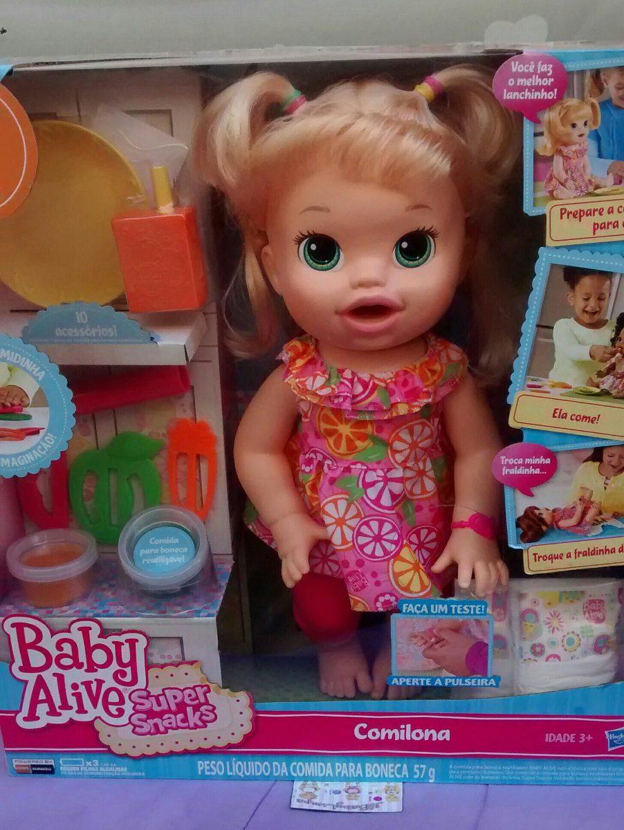 Boneca Baby Alive Comilona Loira Fala Portugu 234 S Hasbro