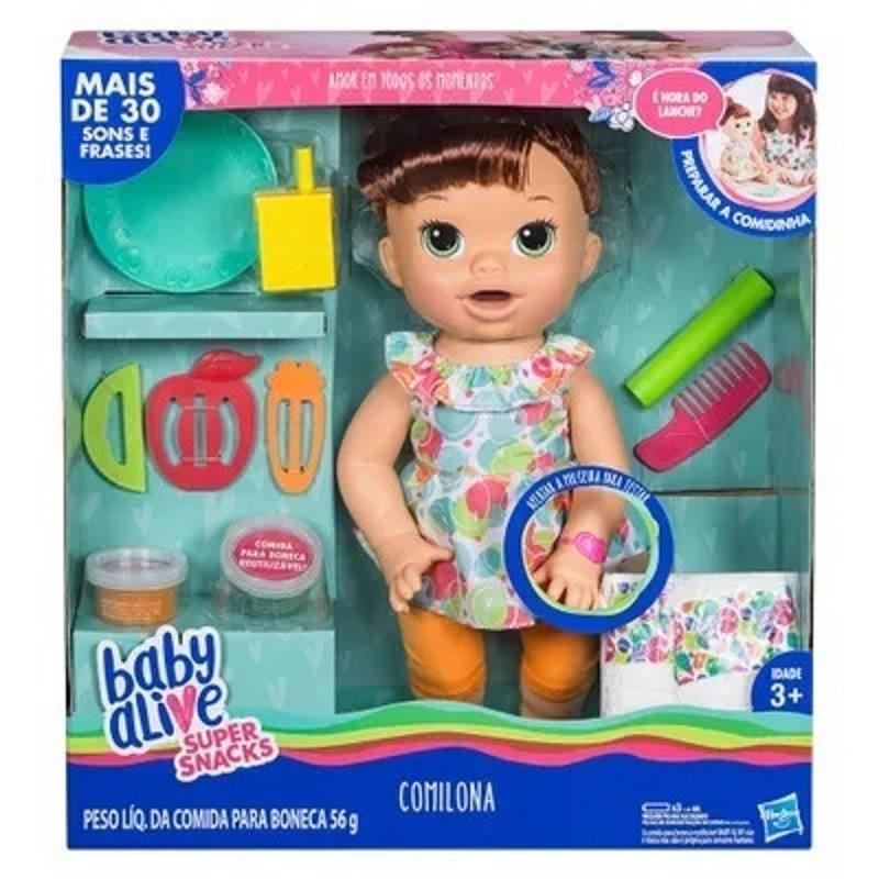 a0acde15d8 boneca baby alive - comilona - morena - e3402 - hasbro. Carregando zoom.