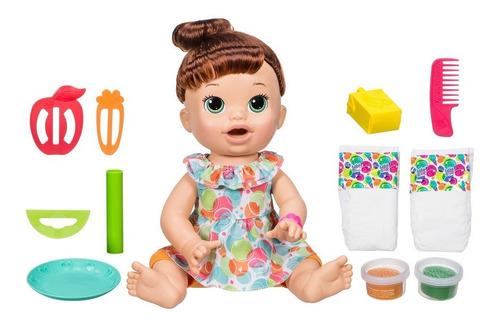 boneca baby alive - comilona - morena - e3402 - hasbro