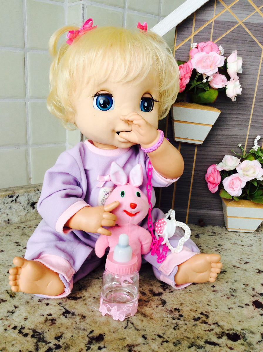 1ba4b613a0 boneca baby alive - fala português bebê reborn. Carregando zoom.