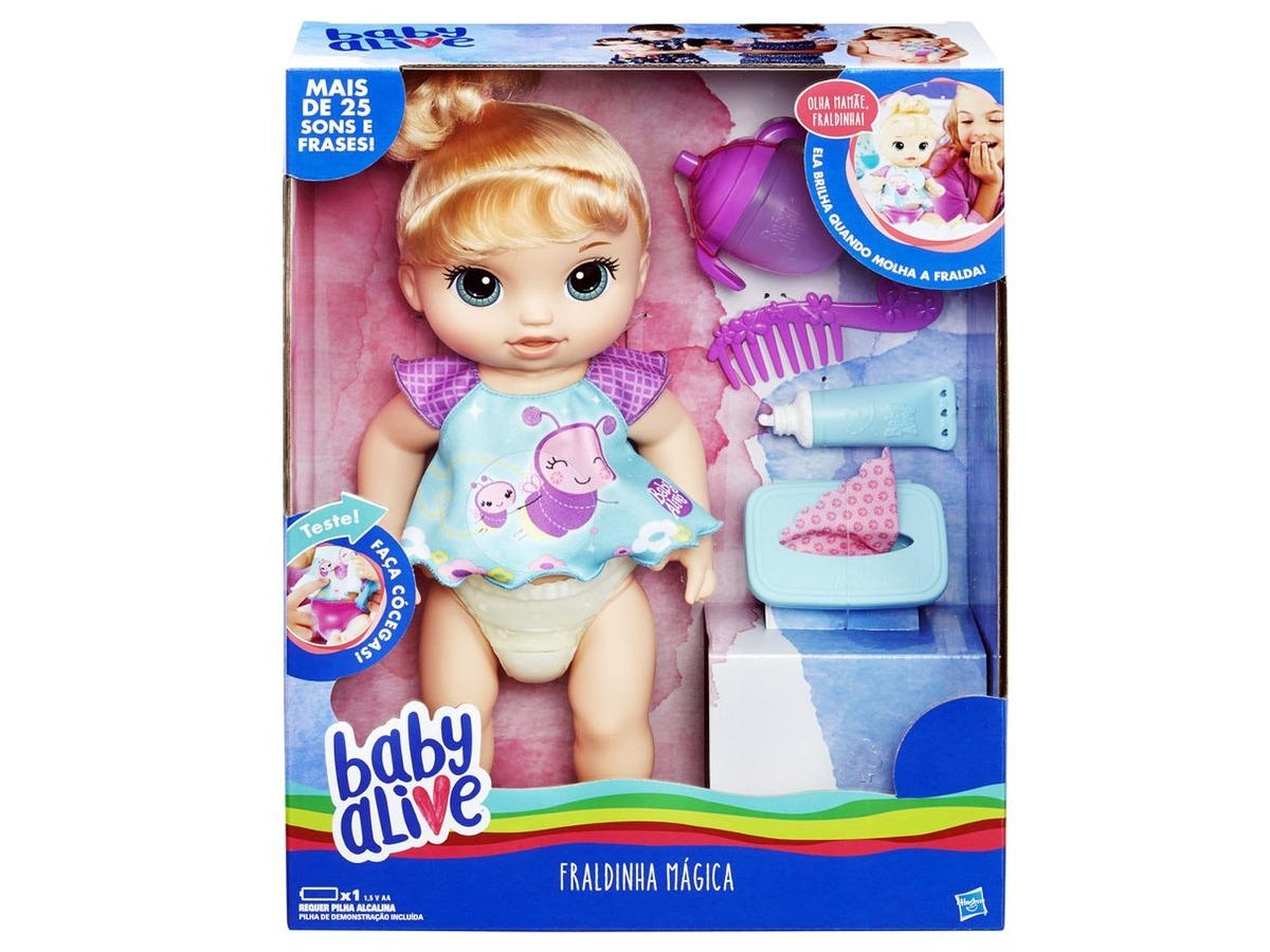 1aad92fd4c boneca baby alive fraldinha magica loira c2700 hasbro. Carregando zoom.