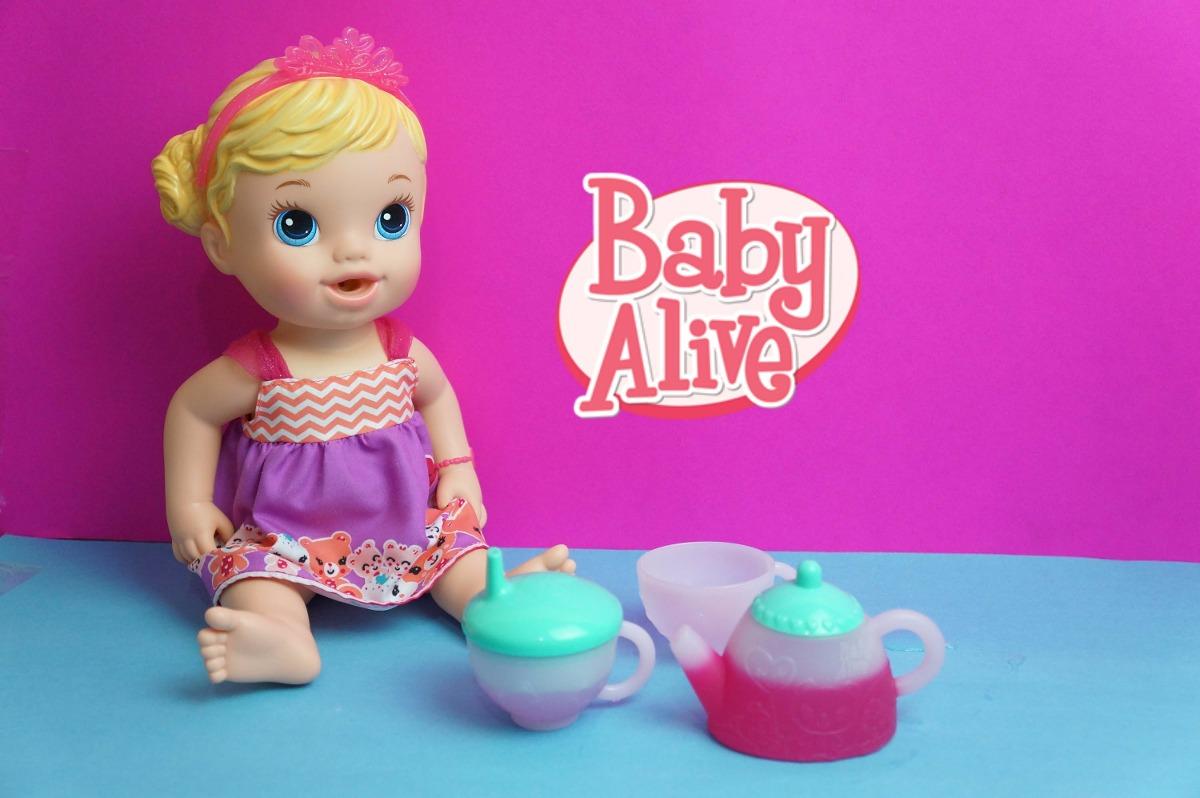 5e4fa52450 boneca baby alive hasbro hora do chá - loira. Carregando zoom.