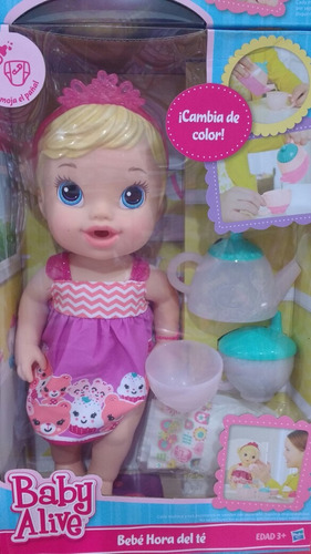 4c628f1473 Boneca Baby Alive Hasbro Hora Do Chá Loira - R  229