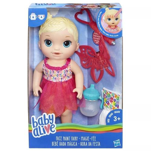 boneca baby alive - hora da festa - loira - hasbro