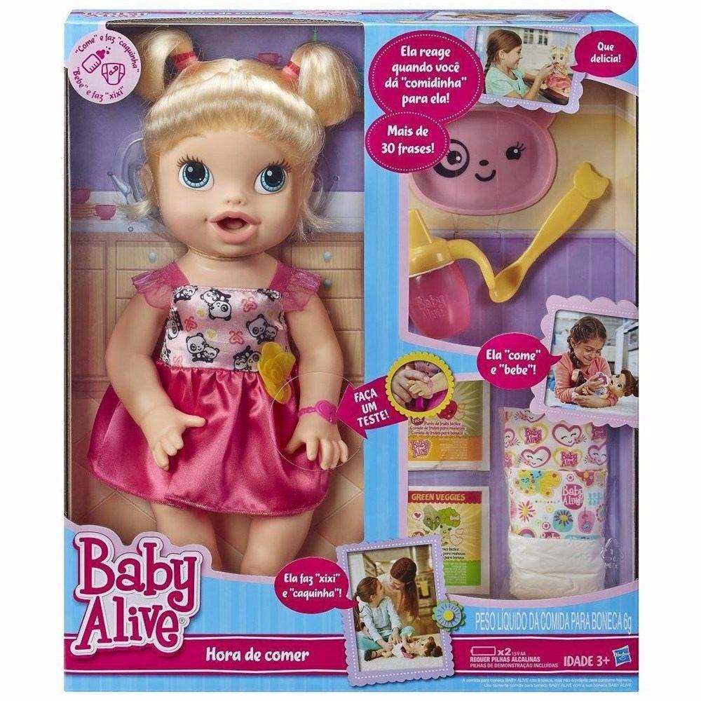 634b41373b boneca baby alive hora de comer loira original hasbro. Carregando zoom.