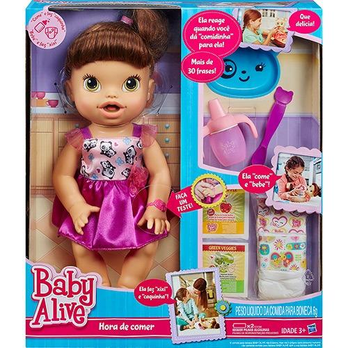 4d2b8abda Boneca Baby Alive Hora De Comer Morena A8346 - Hasbro - R  463