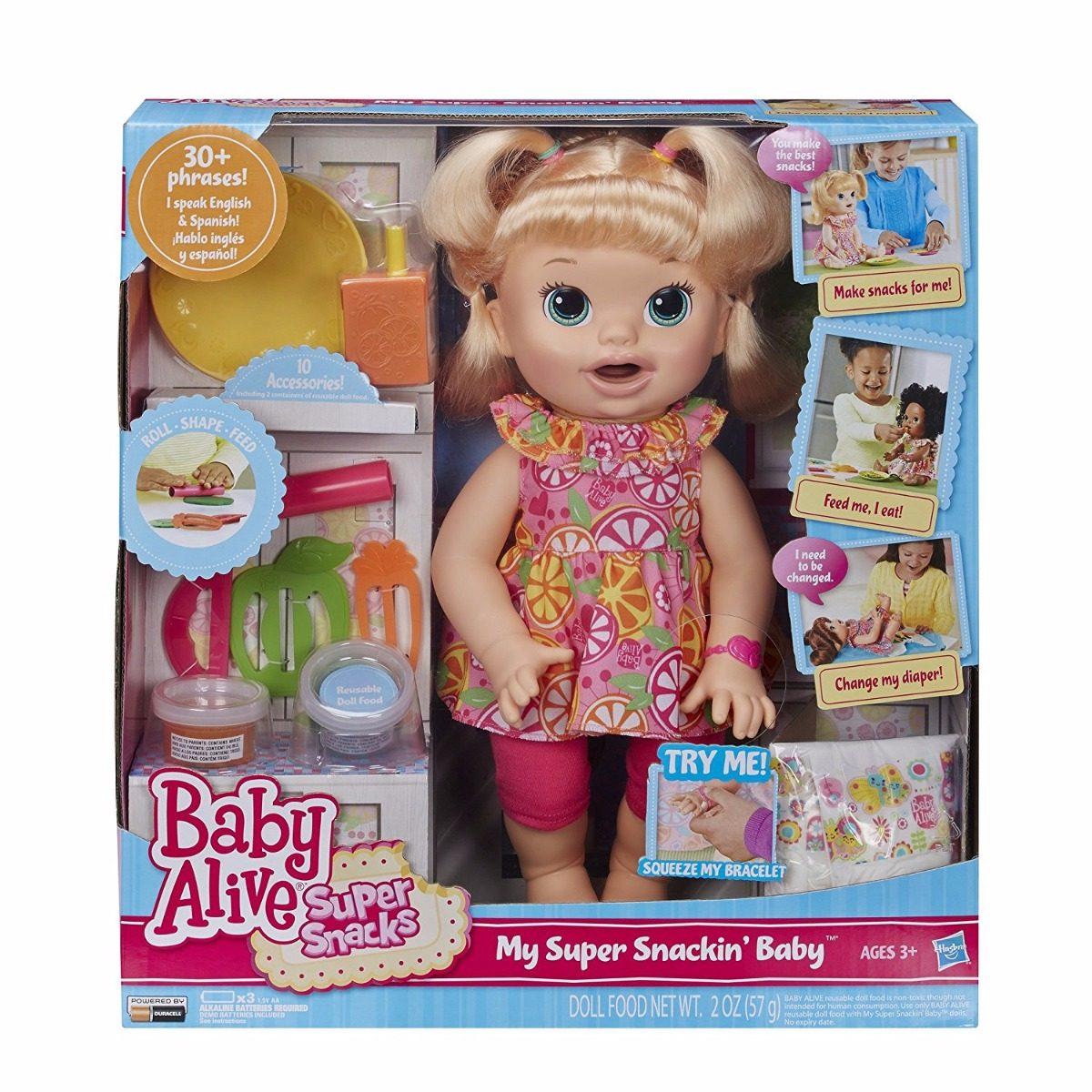 ba192a987b boneca baby alive hora do lanche sara loira - hasbro. Carregando zoom.