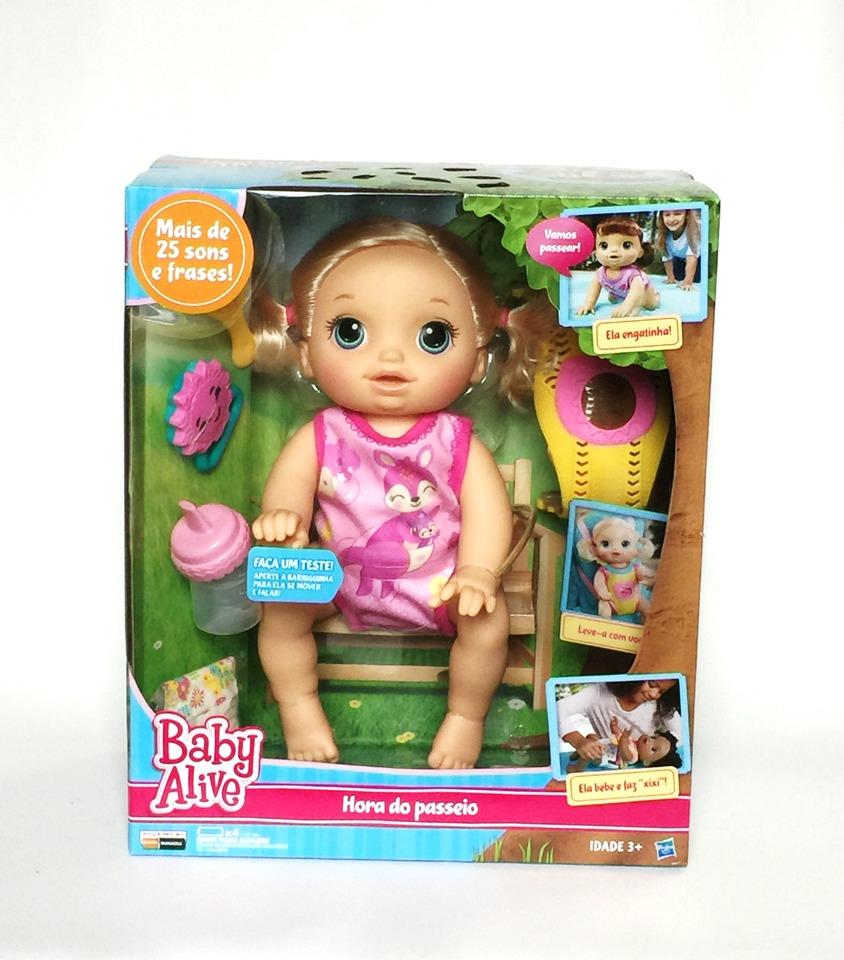 e9b6ec7a15 Boneca Baby Alive Hora Do Passeio Loira Hasbro - R  484