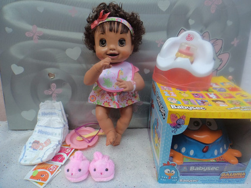 boneca baby alive hora do troninho- fala português