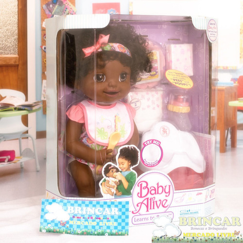 boneca baby alive hora do troninho pretinha #1