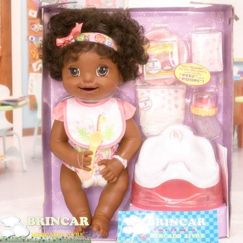 boneca baby alive hora do troninho pretinha linda!