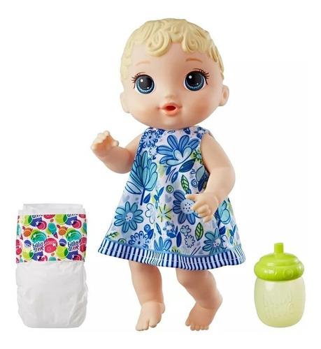 boneca baby alive hora do xixi loira nova - hasbro