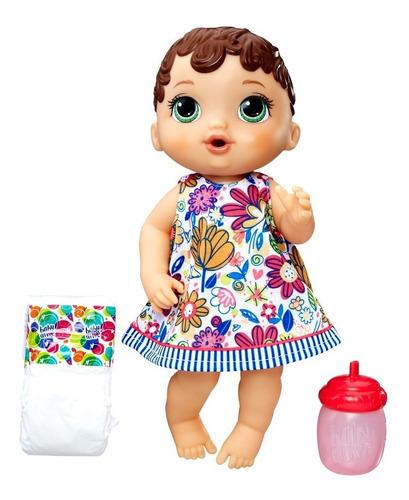 boneca baby alive - hora do xixi - morena - e0499 - hasbro h