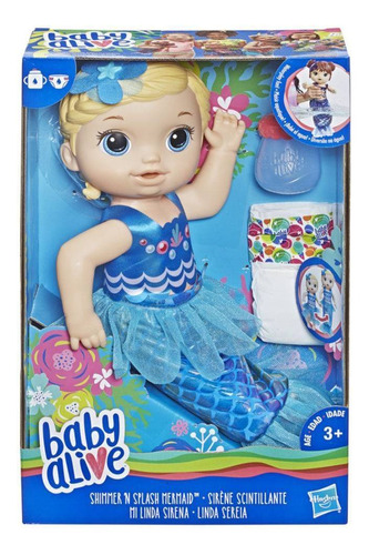 boneca baby alive linda sereia loira