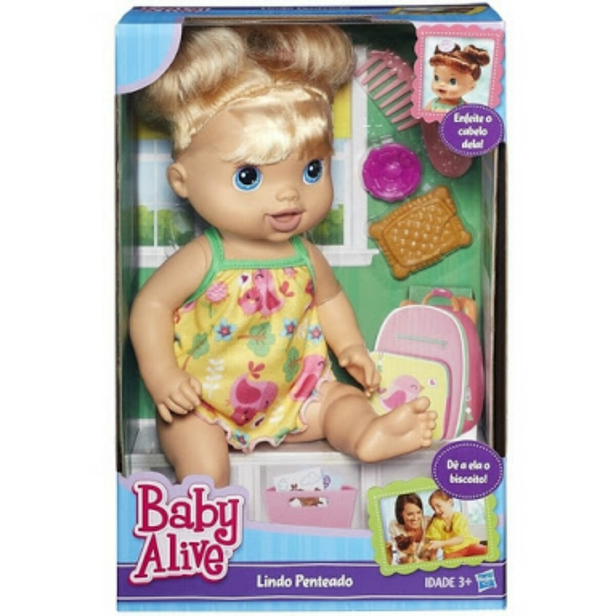 eca1334322 boneca baby alive lindo penteado loira hasbro mais barata. Carregando zoom.