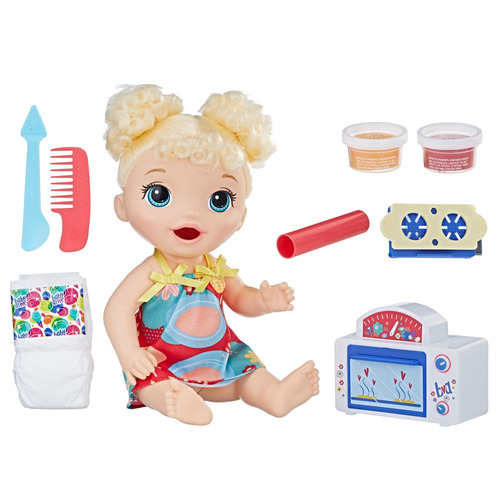 boneca baby alive - meu primeiro forninho - loira - e1947 -