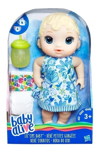 boneca baby alive original hasbro lacrada hora do xixi loira