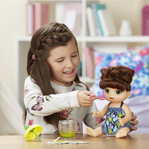 boneca baby alive - papinha divertida - morena - e0587 - has