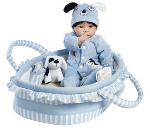 boneca baby boy reborn kit - 9 pçs - novo original eua
