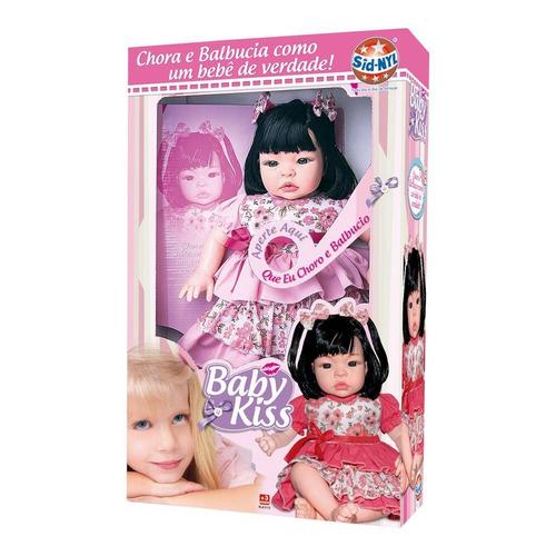 boneca baby kiss chora e balbucia 910 tipo reborn - sid-nyl